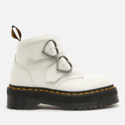 Dr. Martens Women's Devon Heart Leather Ankle Boots - White