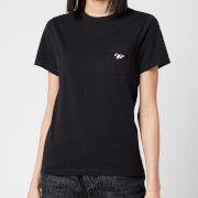 Maison Kitsuné Women's Tricolor Fox Patch T-Shirt - Black