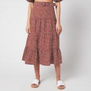 Faithful The Brand Women's Farida Midi Skirt - Bonnie Dot Print