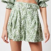 Faithfull The Brand Women's Ondine Short - Sable Paisley Print/Green