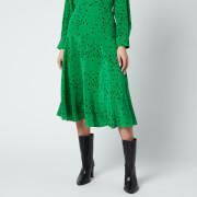 KENZO Women's Printed Midi Fluid Skirt - Green