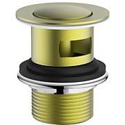 Aero Slotted Basin Click Clack Waste - Brushed Brass