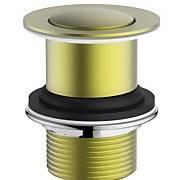 Aero Unslotted Basin Click Clack Waste - Brushed Brass
