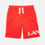 Lanvin Boys' Logo Shorts - Bright Red