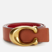 Coach Women's 32mm C Reversible Belt - B4/1941 Saddle 1941 Red