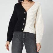 Self-Portrait Women's Contrast Knit Cardigan - Multi