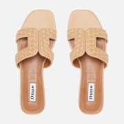 Dune Women's Loupe Raffia Flat Sandals - Natural/Plain/Synthetic
