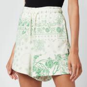 Holzweiler Women's Musan Sweat Shorts - Green Mix