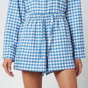 Holzweiler Women's Musan Check Shorts - Blue Check