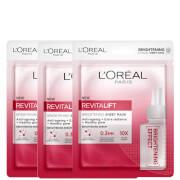 L'Oréal Paris Revitalift Brightening Sheet Masks (Pack of 3)