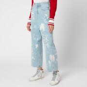 Golden Goose Women's Breezy Bleached/Paint Pants - Blue