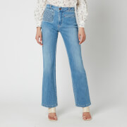 See By ChloéWomen's Denim Flare Jeans - Shady Cobalt Blue