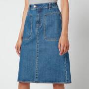 A.P.C. Women's Nevada Denim Skirt - Blue