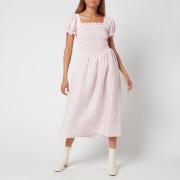 Sleeper Women's Belle Linen Dress - Pink & White