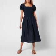 Sleeper Women's Belle Linen Dress - Navy