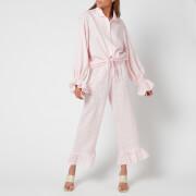 Sleeper Women's Rumba Linen Lounge Suit - Pink Vichy