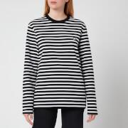 Maison Kitsuné Women's Tricolour Fox Patch Classic Marin Sweatshirt - Black/White