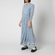 RIXO Women's Kristen Dress - Big Gingham - Navy