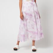 Ganni Women's Pleated Georgette Skirt - Orchid Bloom