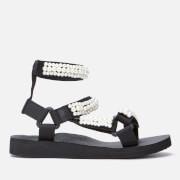 Arizona Love Women's Trekky Pearl Double Ankle Sandals - Black