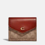 Coach Women's Colorblock Coated Canvas Signature Wallet - Tan Rust