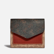 Coach Women's Signature Carriage Wyn Small Wallet - Tan Brown Rust