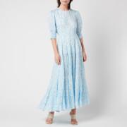 RIXO Women's Agyness Dress - Pebble Shell Blue