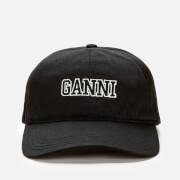 Ganni Women's Organic Cotton Cap - Phantom