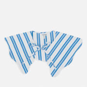 Ganni Women's Stripe Cotton Collar - Daphne