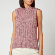 Ganni Women's Chunky Glitter Knitted Jumper - Pink Nectar
