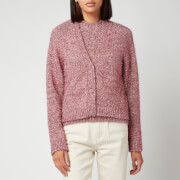 Ganni Women's Chunky Glitter Knitted Cardigan - Pink Nectar