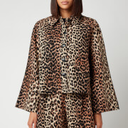 Ganni Women's Linen Canvas Jacket - Leopard