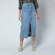 Ganni Women's Comfort Stretch Denim Skirt - Denim