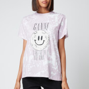 Ganni Women's Take Me To The Moon T-Shirt - Light Purple