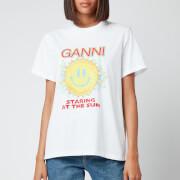 Ganni Women's Staring at the Sun T-Shirt - White