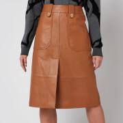 Coach Women's Leather Midi Skirt - Pecan