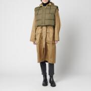 H2OFagerholt Women's Rain Coat - Khakhi/Forest Green