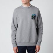 PS Paul Smith Men's Regular Fit Skull Sweatshirt - Melange Grey