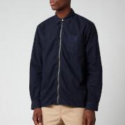 Polo Ralph Lauren Men's Custom Fit Garment Dyed Zipped Shirt - RL Navy