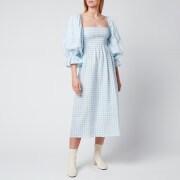 Sleeper Women's Atlanta Linen Dress - Blue Vichy