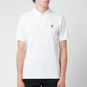 AMI Men's De Coeur Polo Shirt - White