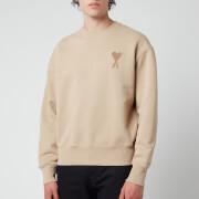 AMI Men's Oversized De Coeur Logo Sweatshirt - Beige