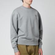 AMI Men's Oversized De Coeur Logo Sweatshirt - Heather Grey
