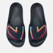 Paul Smith Women's Summit Slide Sandals - Navy Heart Print