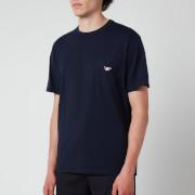 Maison Kitsuné Men's Tricolour Fox Patch Classic Pocket T-Shirt - Navy