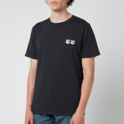 Maison Kitsuné Men's Double Fox Head Patch T-Shirt - Anthracite