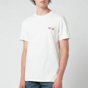 Maison Kitsuné Men's Double Fox Head Patch T-Shirt - Latte
