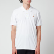 Maison Kitsuné Men's Fox Head Patch Classic Polo Shirt - White