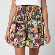 KENZO Women's Printed Short Flared Skirt - Khaki