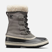Sorel Women's Winter Carnival Waterproof Nylon Lace Up Boots - Quarry/Black